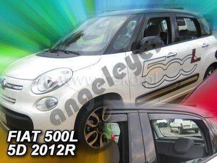 Deflektory na okná pre Fiat 500L 5D, 4ks, rv.2012-