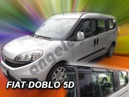 Deflektory na okná pre Fiat Doblo 5D, rv. 2010-