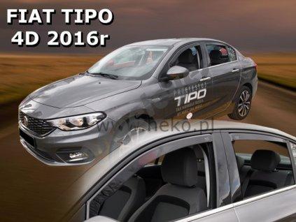 Deflektory na okná pre Fiat Tipo sedan, 4ks, rv. 2016-