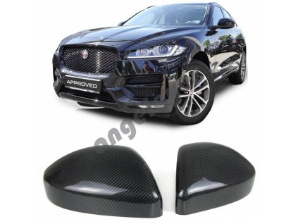 Carbónové kryty zrkadiel Range Rover Evoque, rv. 11-, Jaguar...