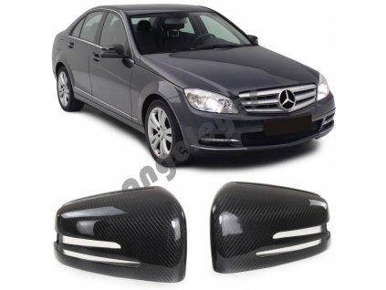 Carbónové kryty zrkadiel Mercedes A W176, B W246, C W204