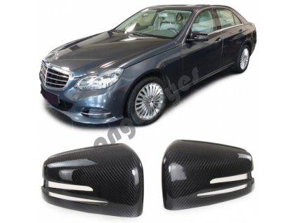 Carbónové kryty zrkadiel Mercedes E W212, S W221, GLA X156