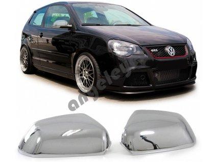 Chrómové kryty zrkadiel VW Polo 9N3, rv. 2005-2009