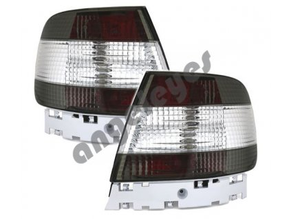 Audi A4 B5 zadné LED červeno-biele svetlá, limo