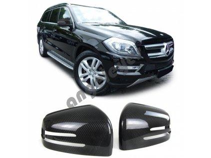 Carbónové kryty zrkadiel Mercedes Benz ML W166/G W463/GLE/GLE...