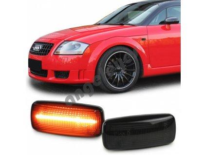 Audi bočné smerovky čierne - dymové