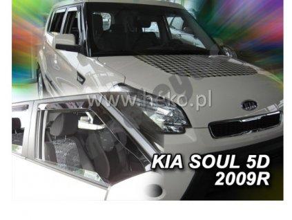 Deflektory na okná pre Kia Soul, 2ks rv. 2009-2014