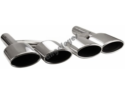 Koncovka výfuku pre Mercedes SL  R230 ; 380 mm x 255 mm x 70 mm