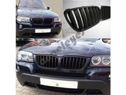 BMW X3 predná čierna matná maska bez znaku, rv. 06-10