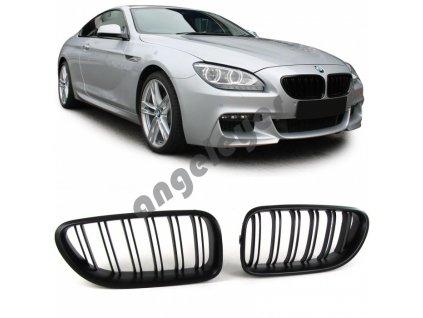 Predná čierna matná maska Šport pre BMW 6  F06/F12/F13