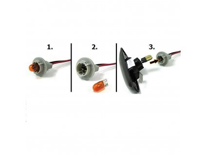 Bočné LED smerovky pre VW, Ford, Seat čierne