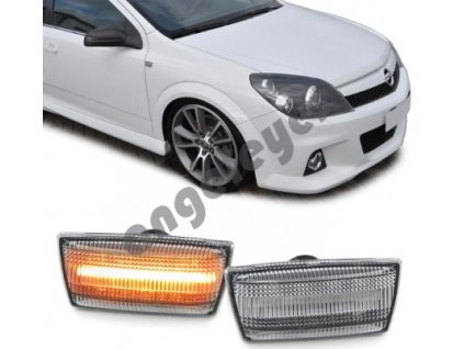 Dynamické chrómové bočné smerovky LED Opel Astra H Insignia...