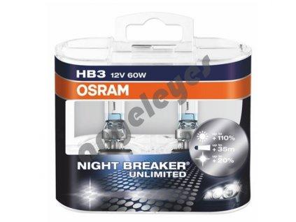 Žiarovky Osram HB3 Night Breaker Unlimited 12V, 60W, 2ks
