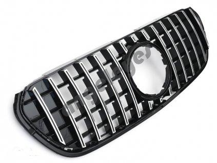 Mercedes W470 X-Klase športová maska čierna lesklá chrómové...
