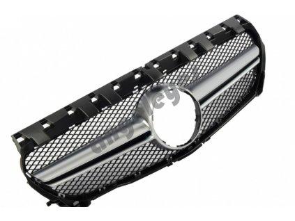 Športová maska pre Mercedes C117 CLA čierna lesklá chrómová...