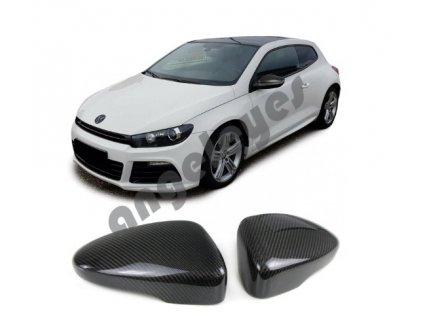 Carbónové kryty zrkadiel VW Scirocco Passat CC Beetle