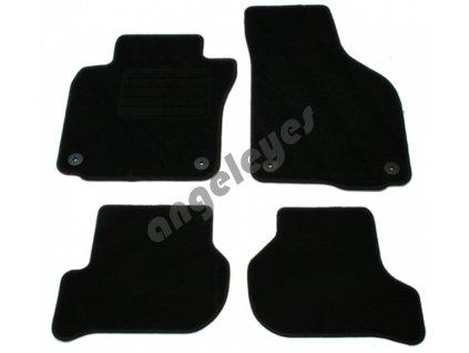 Čierne koberce pre VW Golf 6