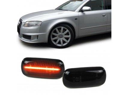 Bočné LED smerovky pre Audi čierne