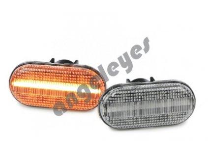 Dynamické bočné LED smerovky biele Smart Fortwo 453 od rv. 2014-