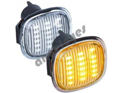 Bočné LED smerovky chrómové Audi, Škoda, Seat