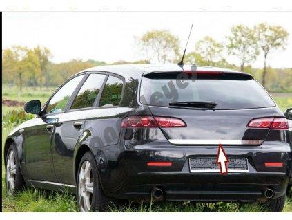 Alfa Romeo 159 zadná kufrová nerezová lišta