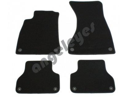 Čierne kvalitné premium koberce pre Audi A4 B9