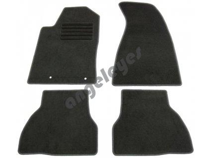 Čierne koberce pre Audi 80 Cabrio
