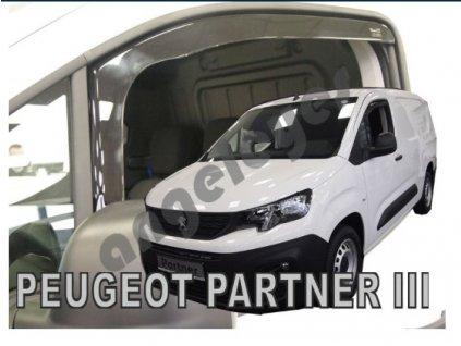 Deflektory na okná pre Peugeot Partner III 2D