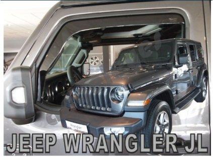 Deflektory na okná pre Jeep Wrangler JL IV 5D