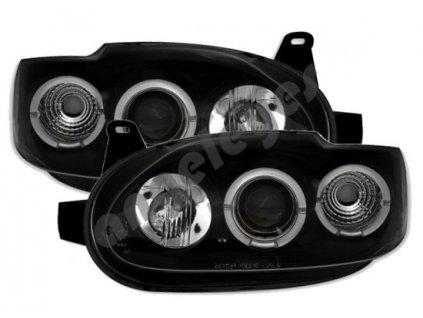 Ford Escort predné svetlá číre Angel Eyes 93-