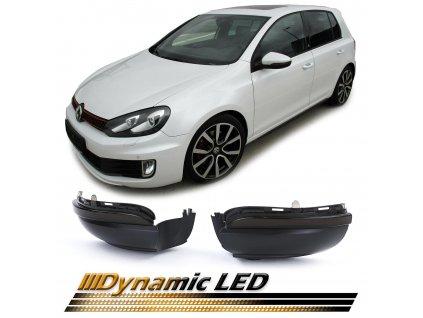 Dynamické Led smerovky pre VW Golf 6, VW Touran 1T3