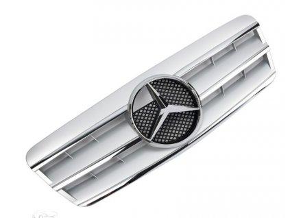 Mercedes maska W208 CL strieborná s chrómom, AMG OPTIK