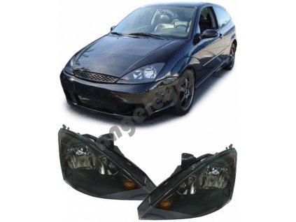 Ford Focus predné svetlá číre čierne, rv. 01-04