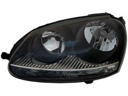 Predné svetlo pre VW Golf 5 1K, VW Jetta 3 1K, čierne, ľavé