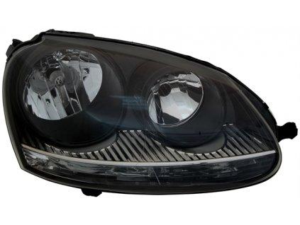 Predné svetlo pre VW Golf 5 1K, VW Jetta 3 1K, čierne, pravé