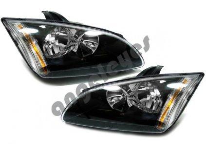 Predné čierne svetlá pre Ford Focus, rv. 04-08