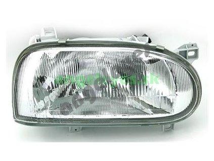 VW Golf 3 predné pravé svetlo so žiarovkou H4 a el. štelovaním