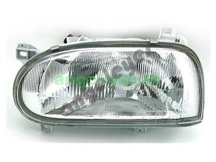 VW Golf 3 predné ľavé svetlo so žiarovkou H4 a el. štelovaním