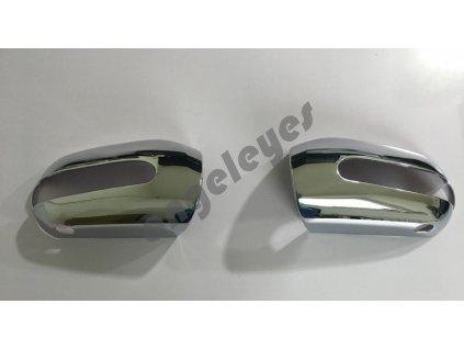 Chrómové kryty zrkadiel pre MB W220
