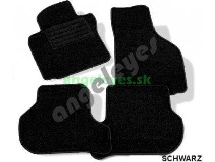 Čierne koberce Mercedes W210 6/95-2/02
