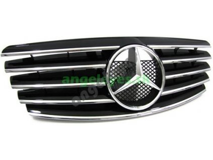 Mercedes E W210 predná čierna maska so znakom, rv. 99-02