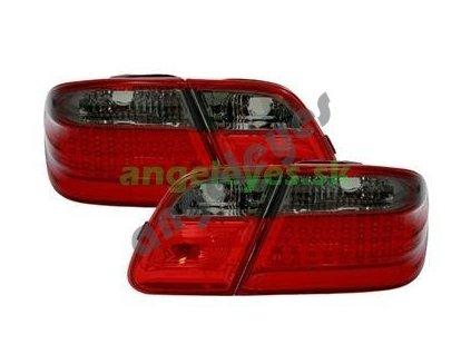 E W210 zadné červeno čierne s LED