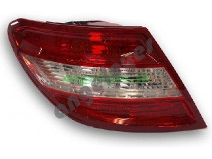 Mercedes C W204 zadné ľavé svetlo, červeno - biele, od rv. 07