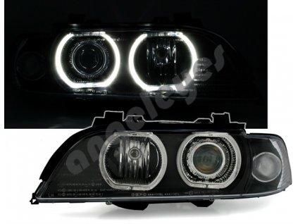 BMW E39 Angel Eyes svetlá s bielymi LED krúžkami pre H7 rv....