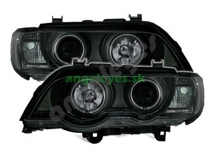 BMW X5 Angel Eyes s bielymi krúžkami + led
