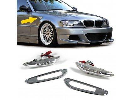 BMW bočné LED smerovky chrómové