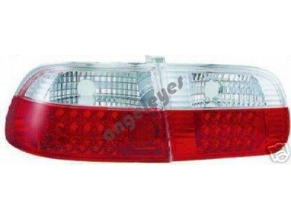 Honda Civic zadné LED svetlá červeno-biele 3-dverová verzia