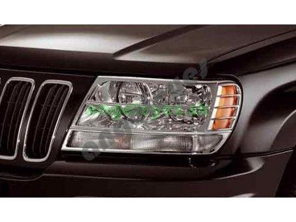 Jeep Grand Cherokee WJ chrómová mriežka na predné svetlá, rv....