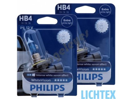 Žiarovky Philips HB4 White Vision Xenon effect, 2 kusy