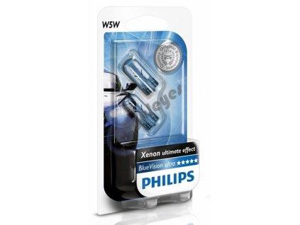 Žiarovky Philips W5W Blue Vision, 2 kusy